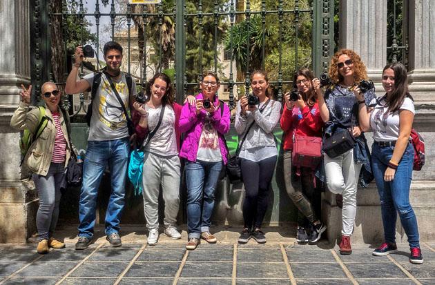Aisitentes al curso de fotografía en Granada