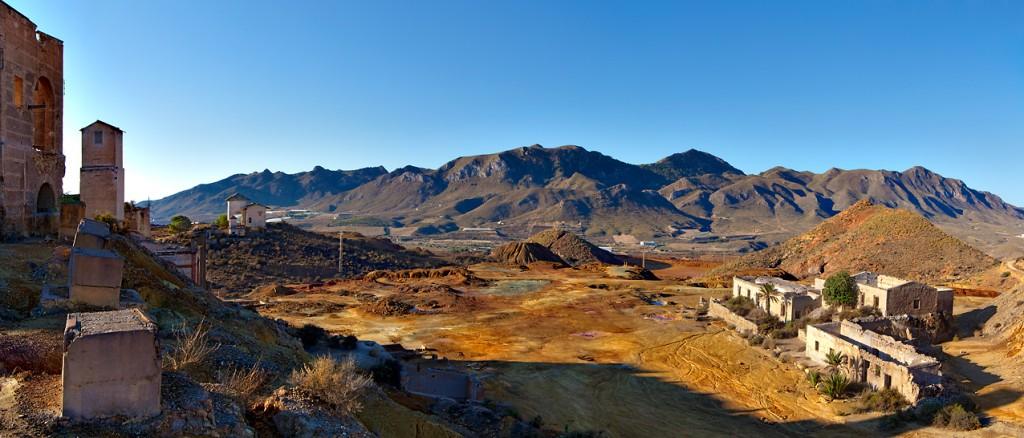 Explotación minera abandonada en Murcia