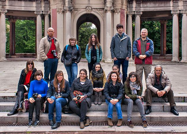 Alumnos del curso de fotografía en Bilbao